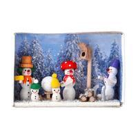 "Alexander Taron Dregeno Matchbox - Snowman Family - 1.5""H x 2.25""W x .75""D"