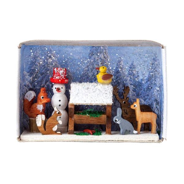"Alexander Taron Dregeno Matchbox - Animals Feeding - 1.5""H x 2.25""W x .75""D"