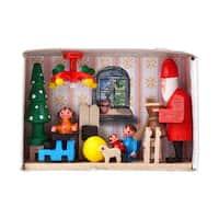 "Alexander Taron Dregeno Matchbox - Santa in Workshop - 1.5""H x 2.25""W x .75""D"
