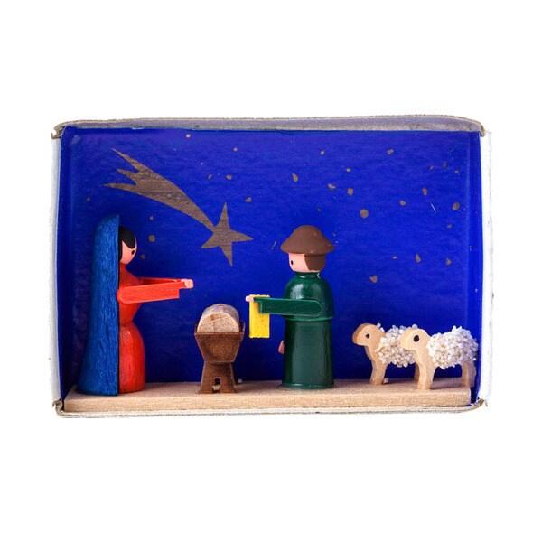 "Alexander Taron Dregeno Matchbox - Nativity - 1.5""H x 2.25""W x .75""D"