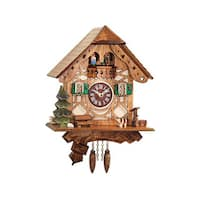 "Alexander Taron Engstler Battery-operated Clock - Mini Size with Music/Chimes - 8.25""H x 8""W x 5.25""D"