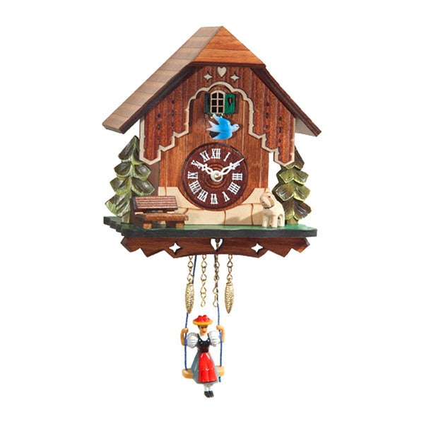 "Alexander Taron Engstler Battery-operated Clock - Mini Size with Music/Chimes - 7""H x 6""W x 4""D"