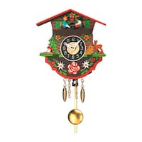 "Alexander Taron Engstler Battery-operated Clock - Mini Size with Music/Chimes - 5""H x 5""W x 2.5""D"