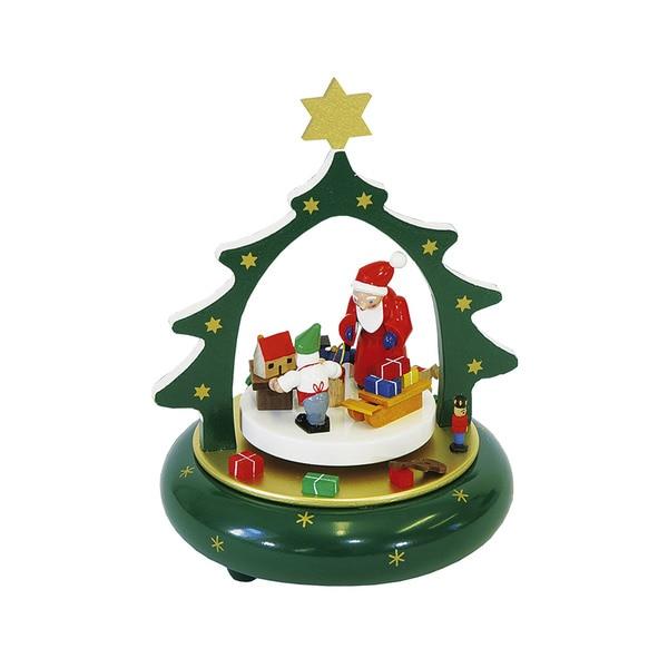 "Alexander Taron Richard Glaesser Music Box - Santa - 7.25""H x 7.5""W x 7.5""D"