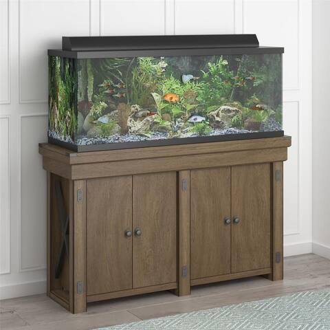 Flipper Wildwood Rustic Grey 55 Gallon Aquarium Stand