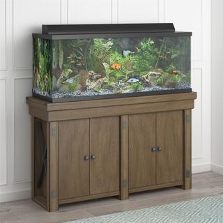 Avenue Greene Woodgate Oak-finish Wood 55-gallon Aquarium/Entertainment Stand