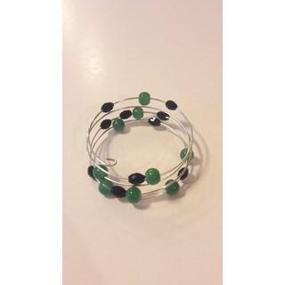 Clustered Glass Bead Wrap Around Bracelet