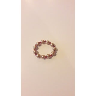 Faux Pearl And Gemstone Bracelet