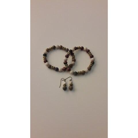 Fran & OLi Gemstone Bracelet and Earring Set