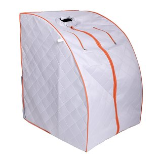 ALEKO Personal Folding Home Infrared Sauna with Folding Chair Foot Pad