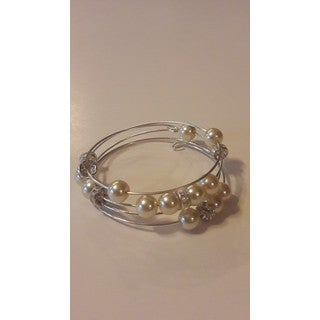 Handmade Faux Pearl Wrap Around Bracelet (USA)