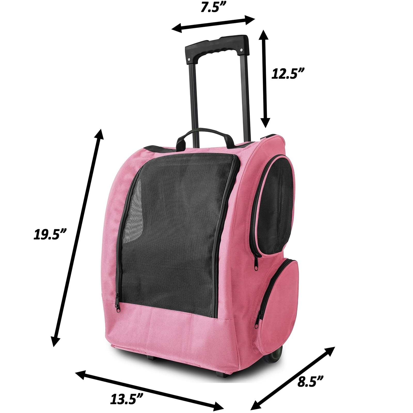 Paws & Pals Pet Carrier Dog Cat Rolling Back Pack Travel ...