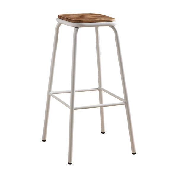 Pleasant Acme Scarus Bar Stool In Natural And White Set Of 2 Machost Co Dining Chair Design Ideas Machostcouk