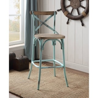 ACME Zaire Bar Chair in Antique Sky