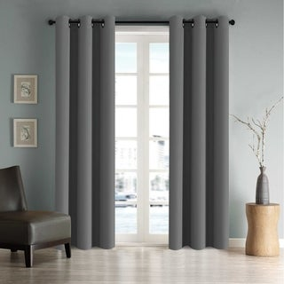 FlamingoP Room Darkening Soild Grommet Curtain Drapes 2-Pack
