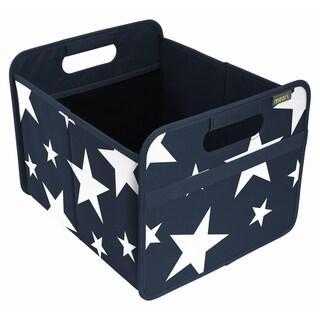 Meori Classic Medium Folding Fabric Storage Box, White Stars