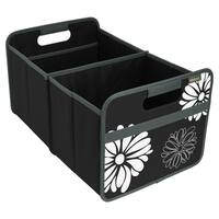 Meori Classic Large Folding Fabric Storage Box, Flowers