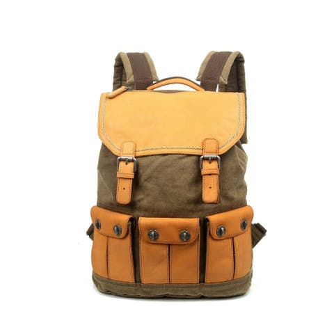 TSD Brand Valley River Canvas Backpack