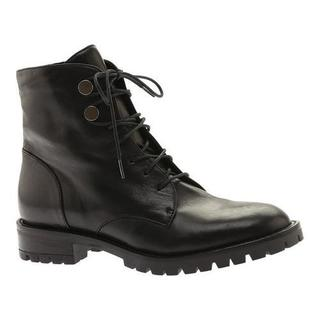 Women's Kenneth Cole New York Francesca Combat Boot Black Patent Leather