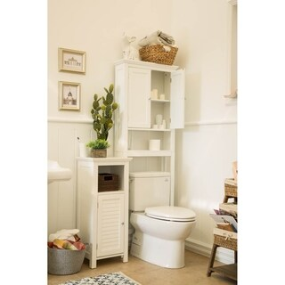 Glitzhome Bathroom Cabinet Spacesaver, White