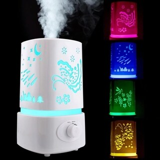 7 Color LED Ultrasonic Air Humidifier Purifier Diffuser Aromatherapy