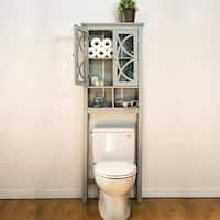 Glitzhome Bathroom Cabinet Spacesaver, Gray - N/A
