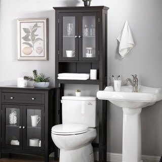 Glitzhome Bathroom Cabinet Spacesaver, Espresso