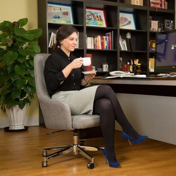 Glitzhome Mid-Century Modern Adjustable Office Chair