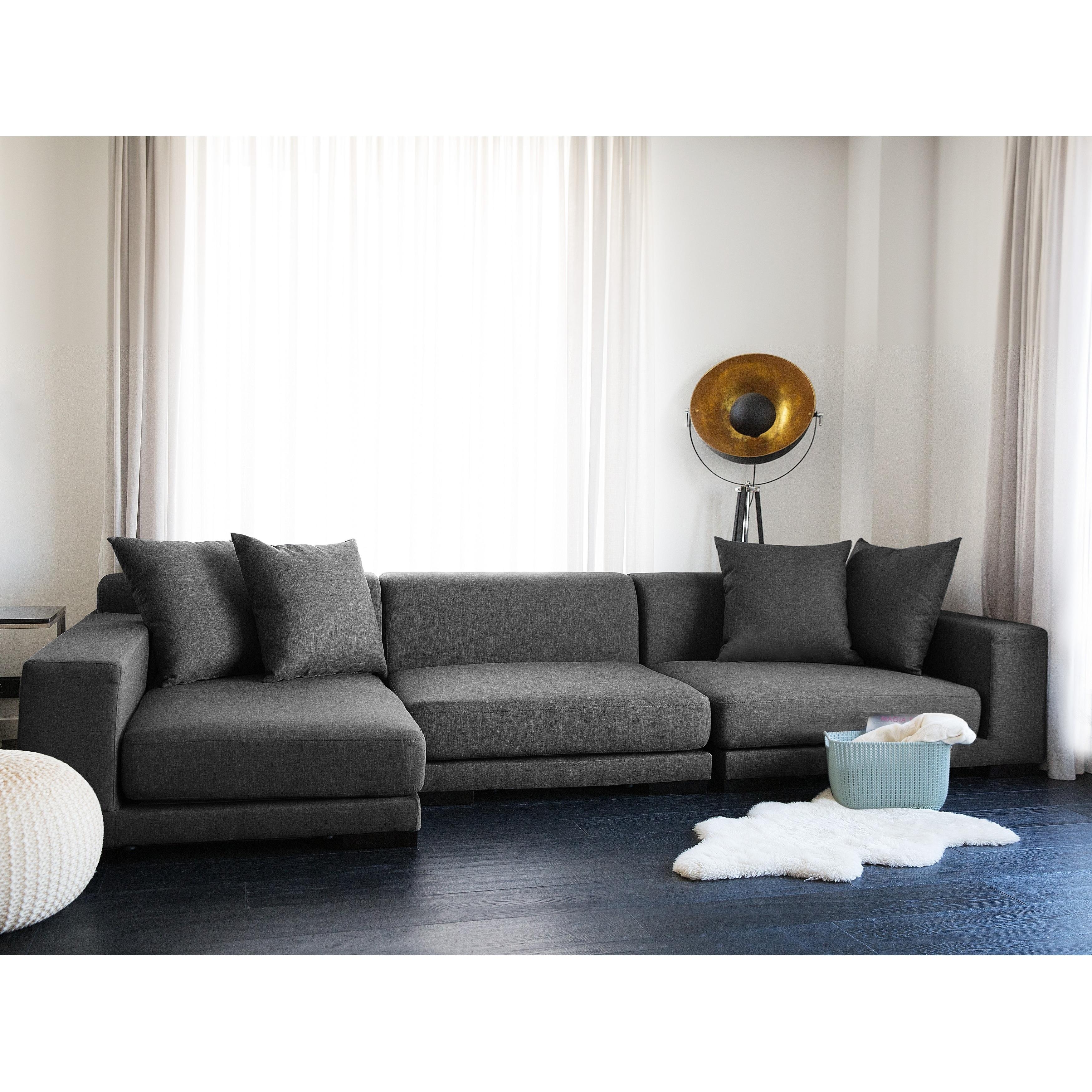 Modular Sectional Sofa Gray Fabric R Cloud