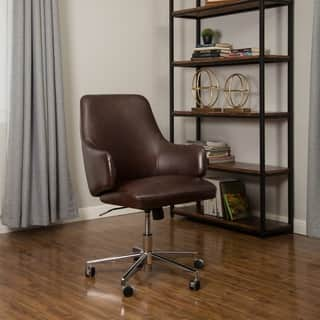 Abbyson Jackson Black Leather Office Chair Free Shipping