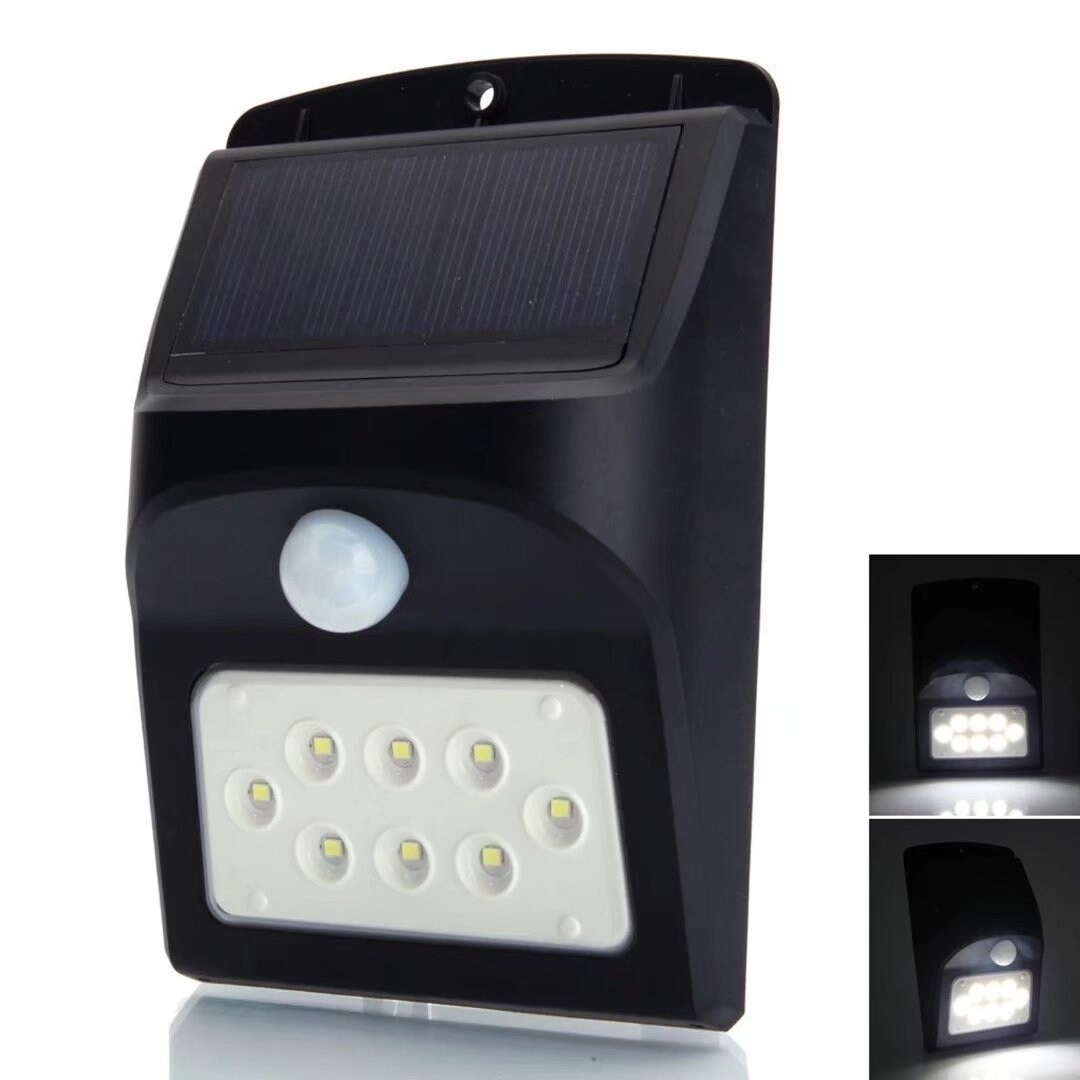 LED Solar Power Motion Sensor Wall Night Light Garden Pat...