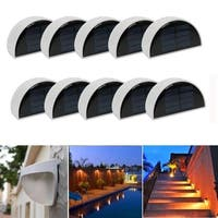 10 Outdoor LED Solar Power Sensor Light Garden Yard Wall Lamp