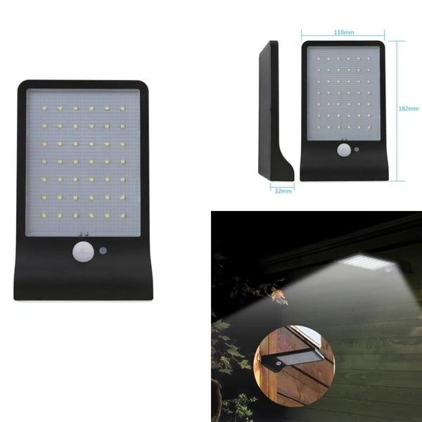 LED Solar Power Motion Sensor Security Light Outdoor Garden Wall Lamp