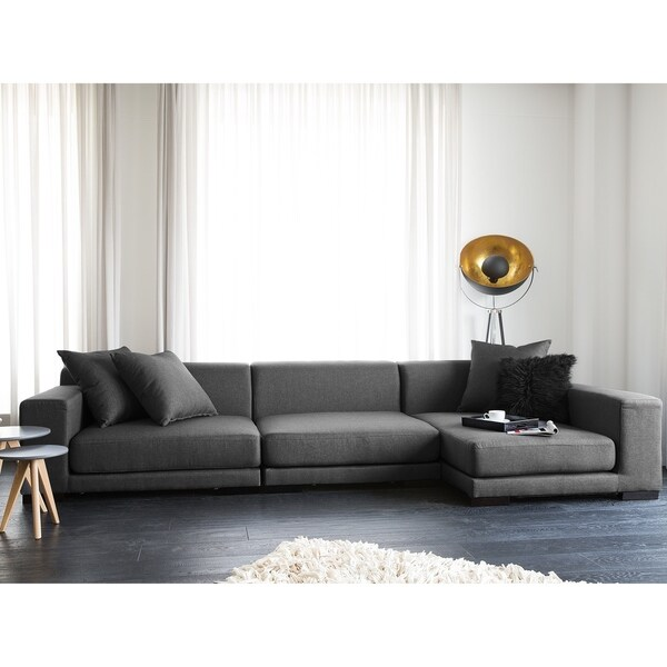 Shop Modular Sectional Sofa Gray Fabric L Cloud Free Shipping Today Overstock