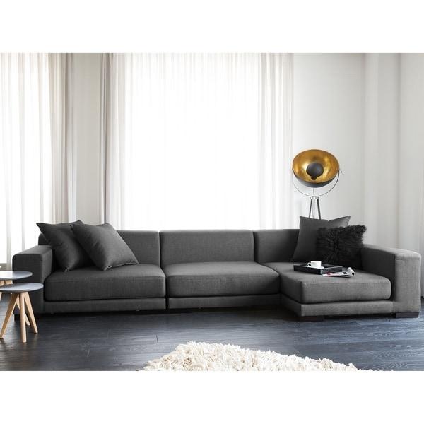 Beau Modular Sectional Sofa   Gray Fabric L CLOUD