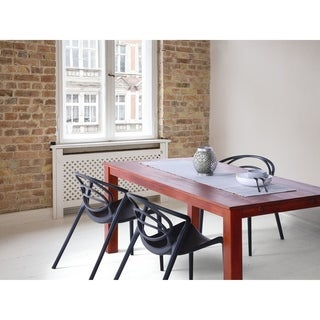 The Curated Nomad Maxwell Brown Oak Dining Table