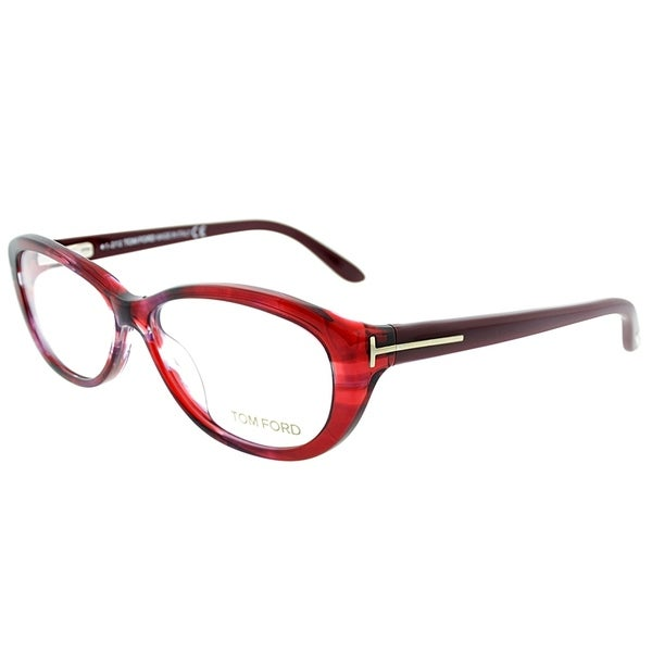 b437f4eb1751 Shop Tom Ford Oval FT 5226 68 Womens Burgundy Frame Eyeglasses ...