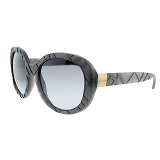 394af9575f9b1 Burberry Oval BE 4218 357813 Womens Matte Dark Havana Frame Brown Gradient Lens  Sunglasses