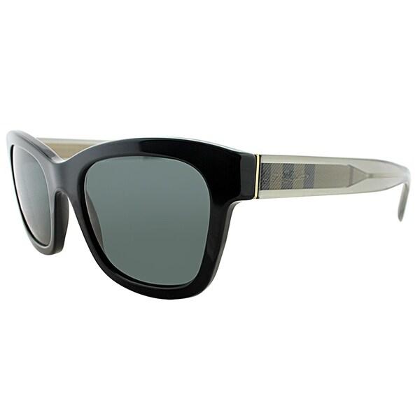 bf96621a9e4f Burberry Square BE 4209 300187 Unisex Black Frame Grey Lens Sunglasses