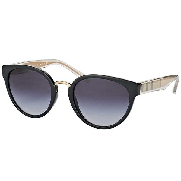 78fac2eb2fc Burberry Cat Eye BE 4249 30018G Womens Black Frame Grey Gradient Lens  Sunglasses