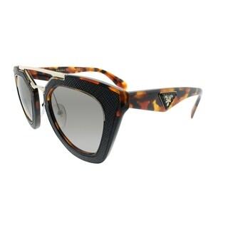 Prada Cat-Eye PR 14SS VHA3D0 Womens Havana Black Frame Brown Gradient Lens Sunglasses