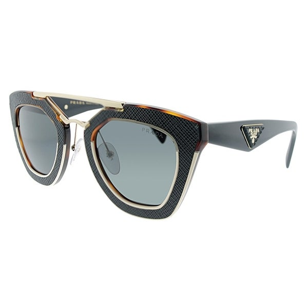 21eca9b0309d4 Prada Cat-Eye PR 14SS VHB5S0 Womens Havana Beige Black Frame Grey Lens  Sunglasses