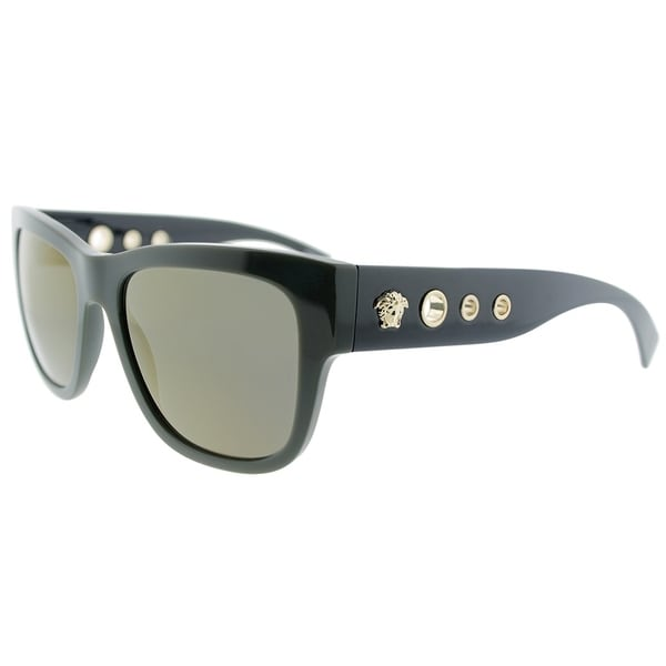 f9642dc86ee38 Versace Square VE 4319 51934T Unisex Green Frame Gold Mirror Lens Sunglasses