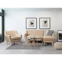 Tufted Sectional Sofa Beige MOTALA