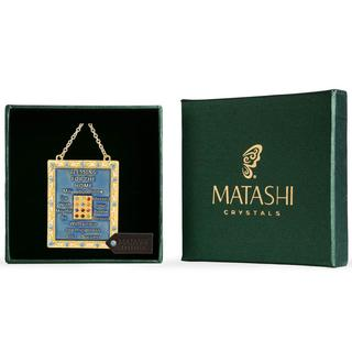 Matashi English Judaica Home Blessing Hanging Wall Ornament w/ Matashi Crystals (Pewter) Beautiful Decor