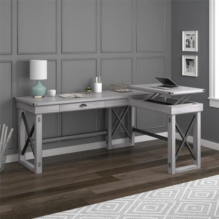 Avenue Greene Woodgate L-Shaped Desk with Lift Top (2 options available)