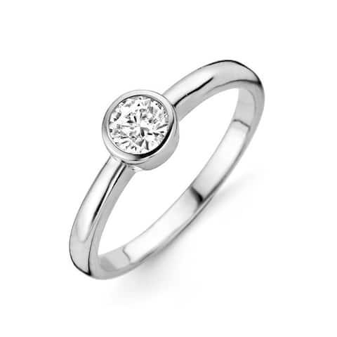 Kipling Kids Sterling Silver Round Cz Ring Size - 6.5