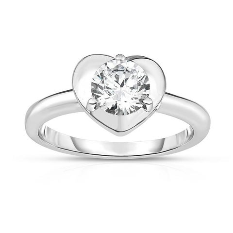 Kipling Kids Sterling Silver Heart Round Cz Ring
