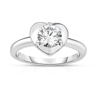 Kipling Kids Sterling Silver Heart Round Cz Ring (3 options available)