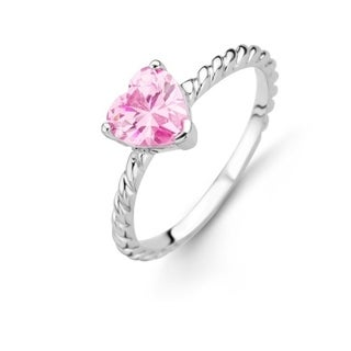 Kipling Kids Sterling Silver Pink Heart Cz Ring